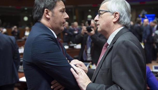 Scontro Juncker-Renzi: