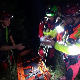 Un intervento di dodici ore, in notturna, per salvare un escursionista sul Pizzo Scalino