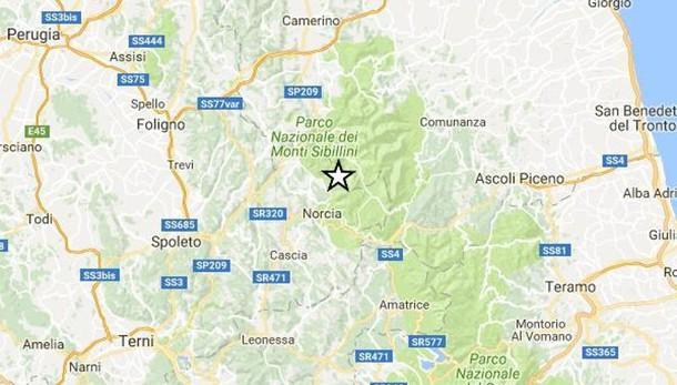 Nuova scossa di magnituto 3.6 vicino Amatrice