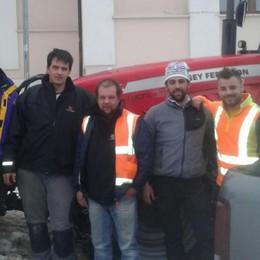 Livigno, volontari in Abruzzo «Uno spiraglio di luce»