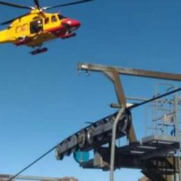 Brutte cadute sulle piste da sci  Quattro gli elicotteri intervenuti