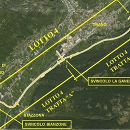 Ecco il tracciato  della tangenziale  che salverà Tirano