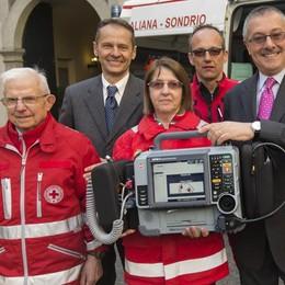 La raccolta fondi on line regala un defibrillatore alla Croce rossa di Sondrio