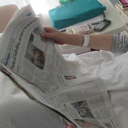 «Il giornale in corsia all'ospedale Morelli, che bella cosa»
