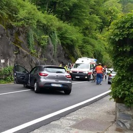 Laglio, incidente sulla Regina  Due persone al pronto soccorso