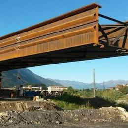 Viadotto sull'Adda-Bitto, la prima trave