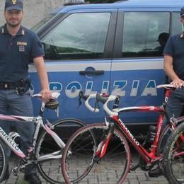 Sernio, la Polizia recupera quattro bici rubate