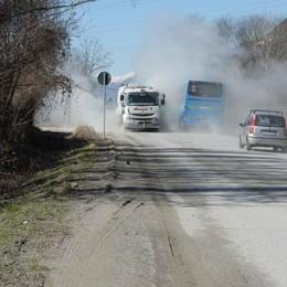 Polvere dal cantiere della nuova statale 38, i cittadini insorgono