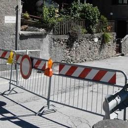 Riaperta la strada verso Campovico  Ma il versante resta sotto osservazione