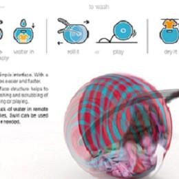 Idea per risparmiare energia: la lavatrice che rotola