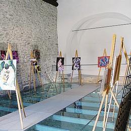 La chiesa come galleria d'arte  Una mostra a San Colombano