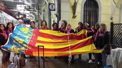 Il gruppo alla stazione di Tirano