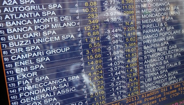 Borsa: Milano chiude in calo (-2,87%)