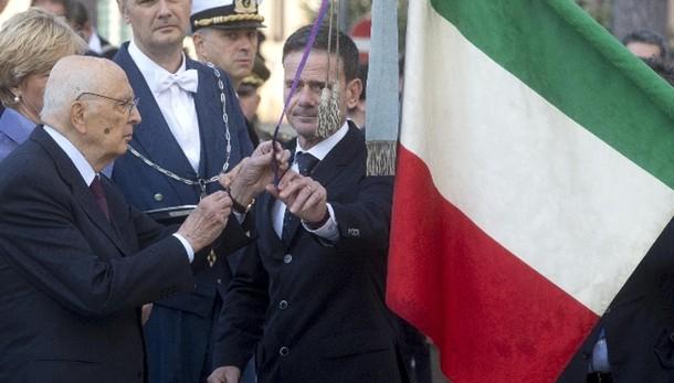 4 novembre: Napolitano ad Altare Patria