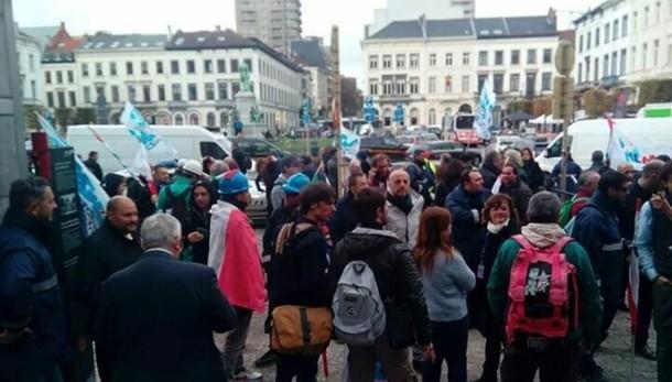 Gli operai dell'Ast a Bruxelles