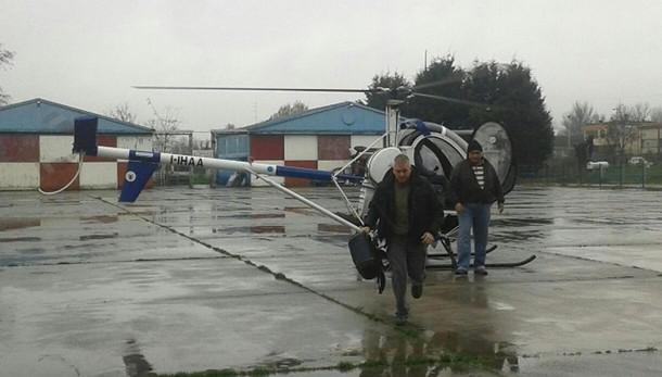 Forconi in elicottero,protesta 'segreta'