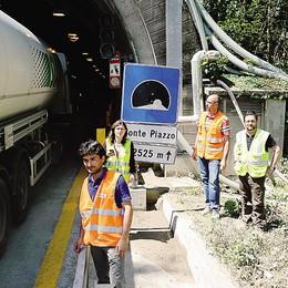 Lavori in corso al Monte Piazzo  «Tunnel pronto per giugno»