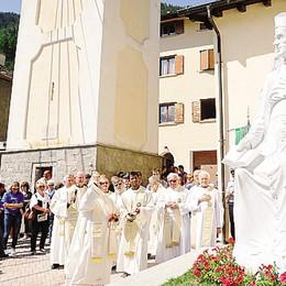 Nuova statua  per San Guanella