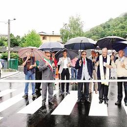 Segrada-Moia, si passa  Battesimo con pioggia  per la tangenzialina