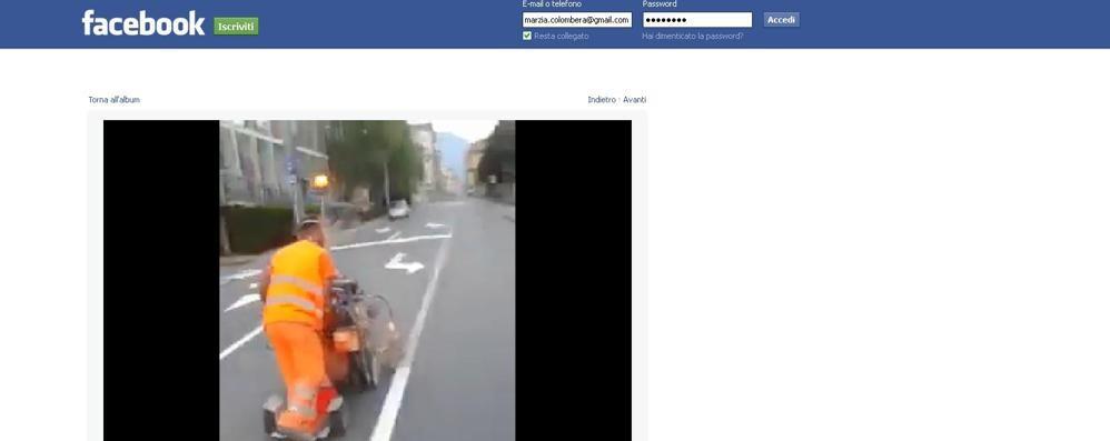 È l'Alonso della segnaletica: video supercliccato su Fb