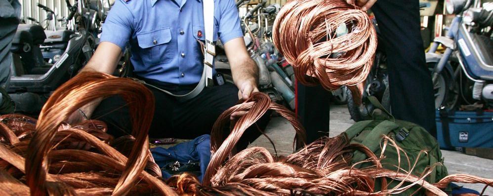 Furto di rame da 10mila euro: spariti due chilometri di cavi