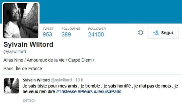 Strage reality: tweet Wiltord, io tremo