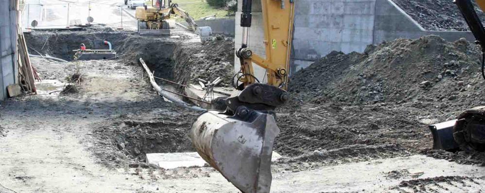 Altri intoppi al cantiere: slitta ancora l'apertura del tunnel di via Ventina