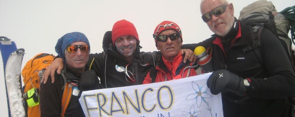 A segno la conquista della cima del Chearoco: «È per Franco Deghi»