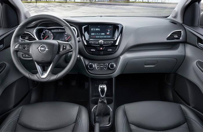 L'interno della nuova Opel Karl,