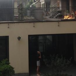Esplode condizionatore in centro a Sondrio