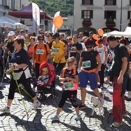Tirano, boom di partecipanti al Walking Valtellina