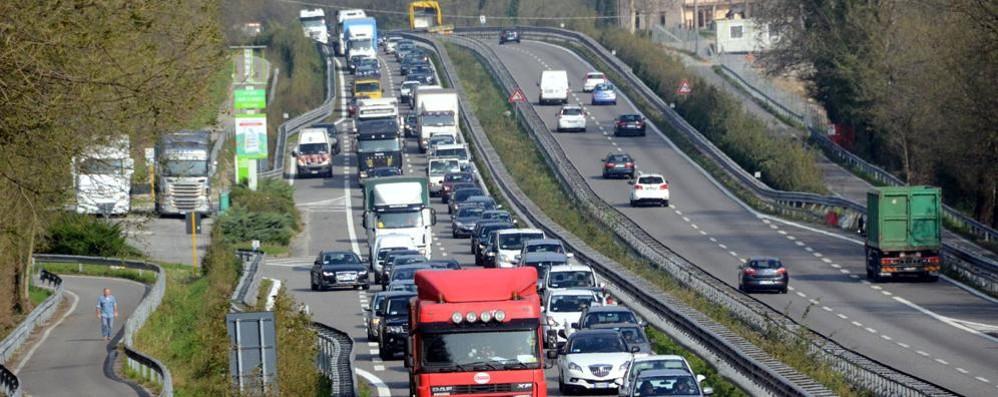 Incidente in superstrada  Traffico bloccato verso Milano
