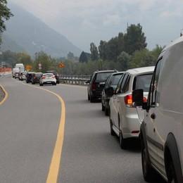 Nuovo blocco del traffico fra Traona e Morbegno