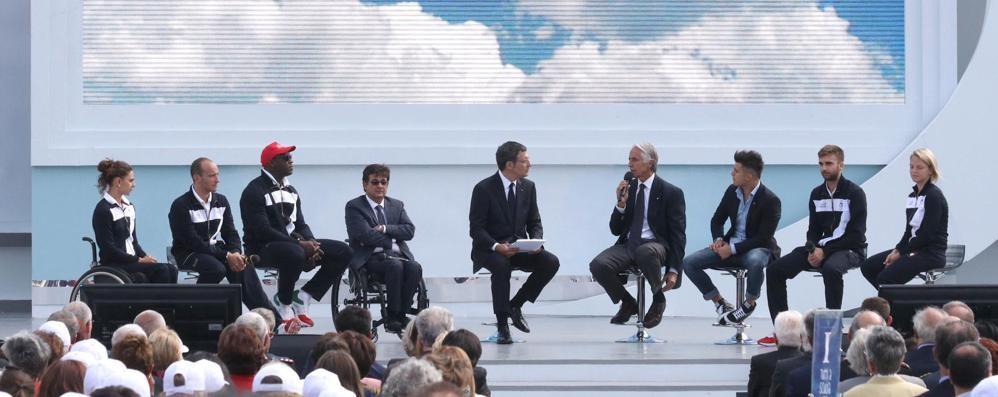 Sul palco i sogni di Arianna   «Portabandiera olimpica»
