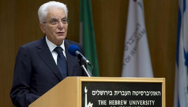 Mattarella, diritto Israele di esistere