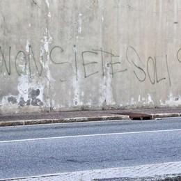 Scritte sul muro del carcere di Sondrio  L'autoreè un ex detenuto