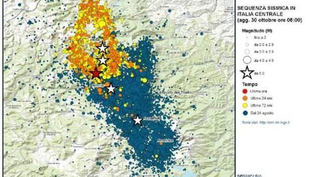 Forte scossa terremoto Marche e Umbria