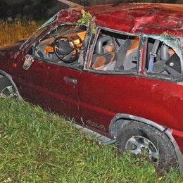 Nuovo allarme per un'auto  fuori strada ad Albosaggia