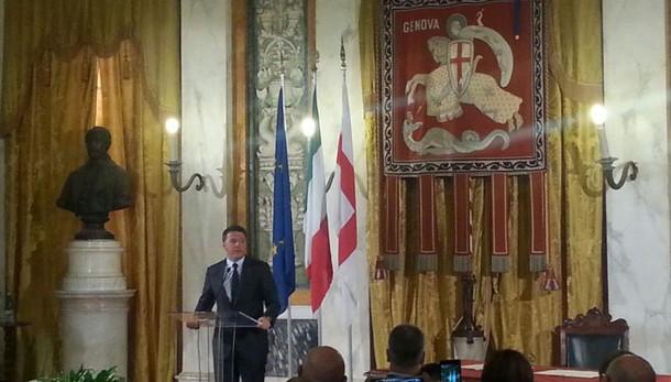 Renzi firma con Doria 'Patto per Genova'