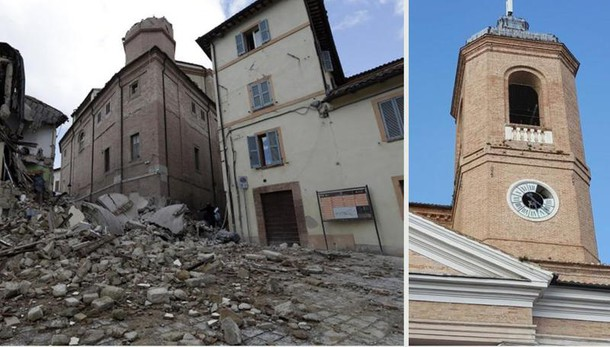 Pm indaga su crollo campanile Camerino