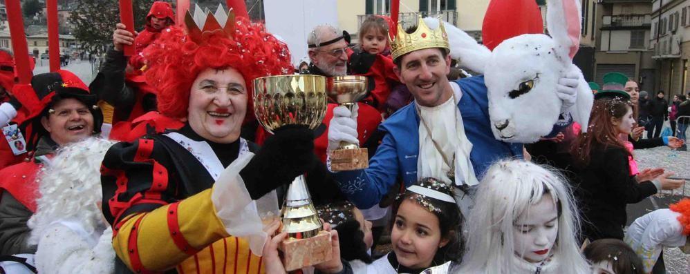 """Il Carnevale premia la """"Regina di cuori""""  e tutta la sua corte"""