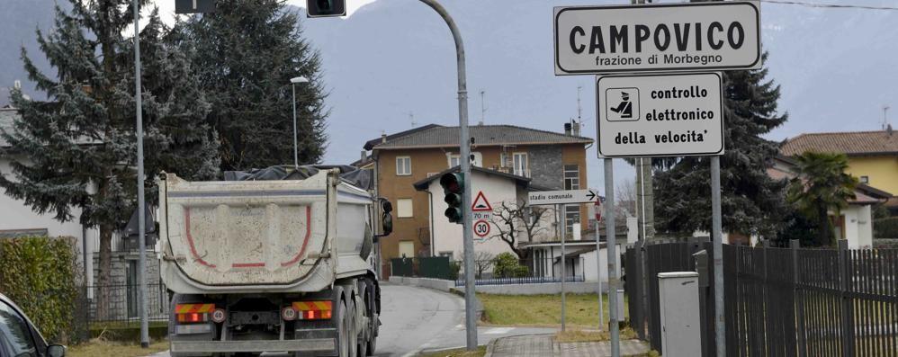 Morbegno, Campovico stufa del passaggio dei camion