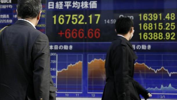 Borsa: Asia cresce, Tokyo +1,7%