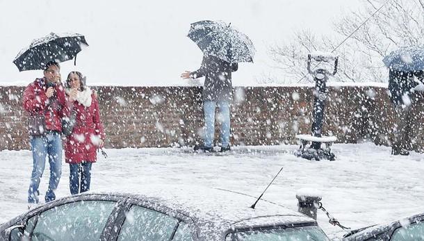 Neve sul Nord-ovest, Torino imbiancata
