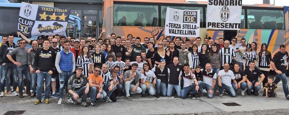 Calcio, pullman di tifosi valtellinesi a Roma per sostenere la Juve
