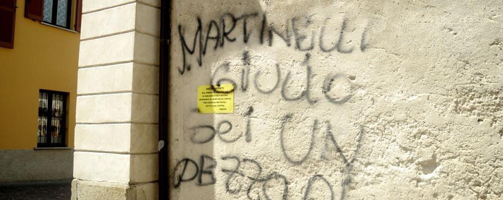Una nuova scritta contro Martinelli