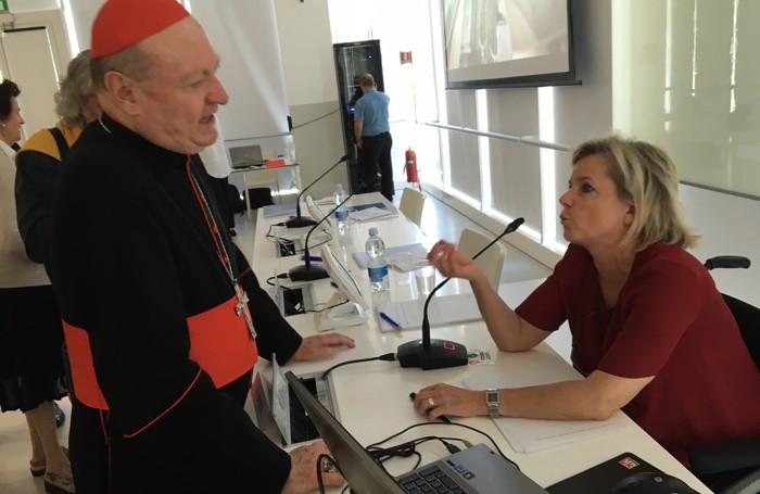 Fiamma Satta con il cardinal Ravasi