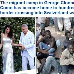 «Il rifugio di Clooney sul lago di Como  diventa la casa di centinaia di profughi»