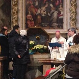 Tirano, la prima volta  del vescovo al Santuario