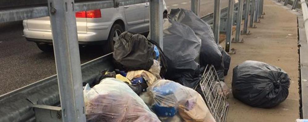 Rogolo, i rifiuti sulla 38 scatenano l'ira del Comune